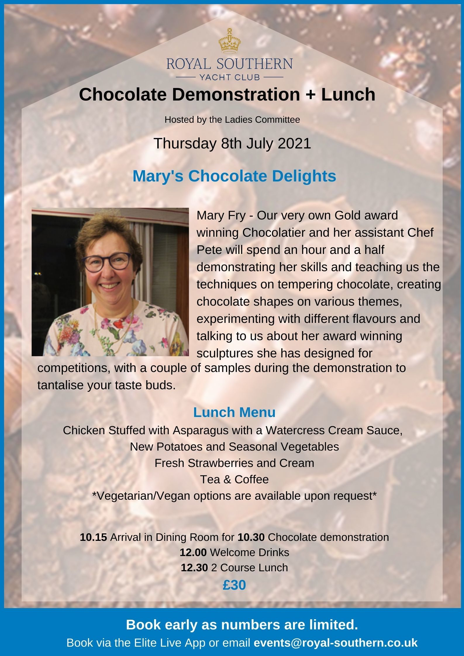 Ladies Who Lunch Choc Demo Poster V3