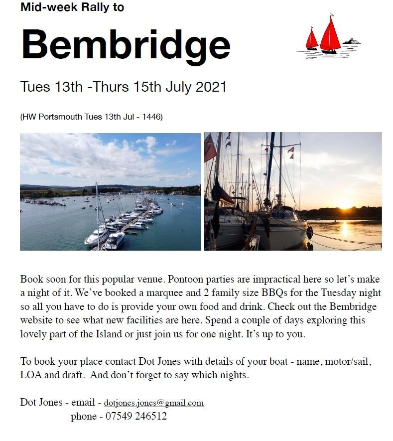 Mid Week Rally To Bembridge
