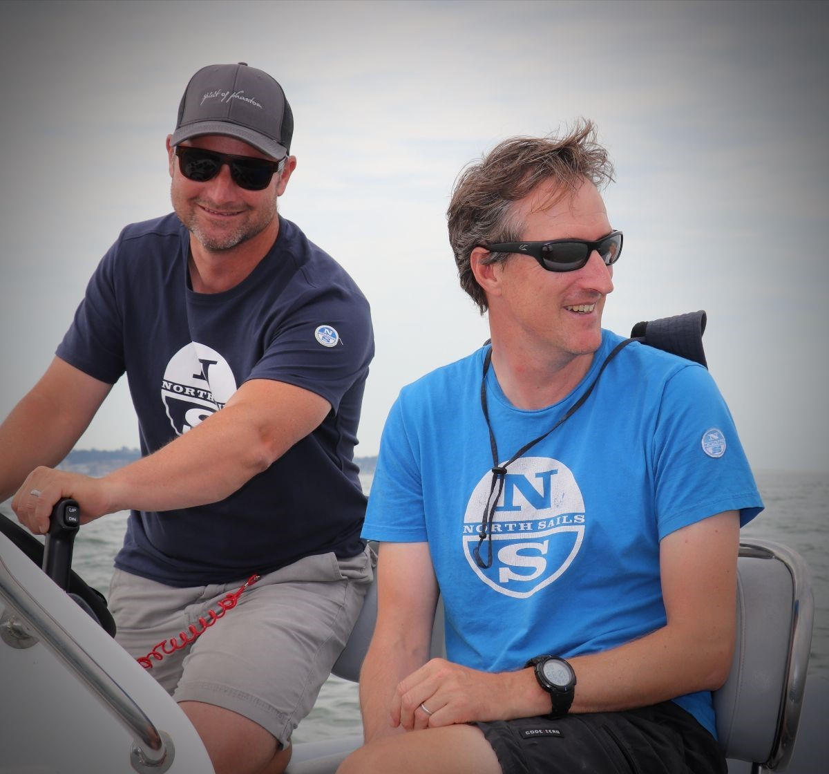 World class sailors Dave Lenz and Ronan Grealish were out on the water offering top tips and tricks via WhatsApp to all of the fleet from North Sails Coaching.