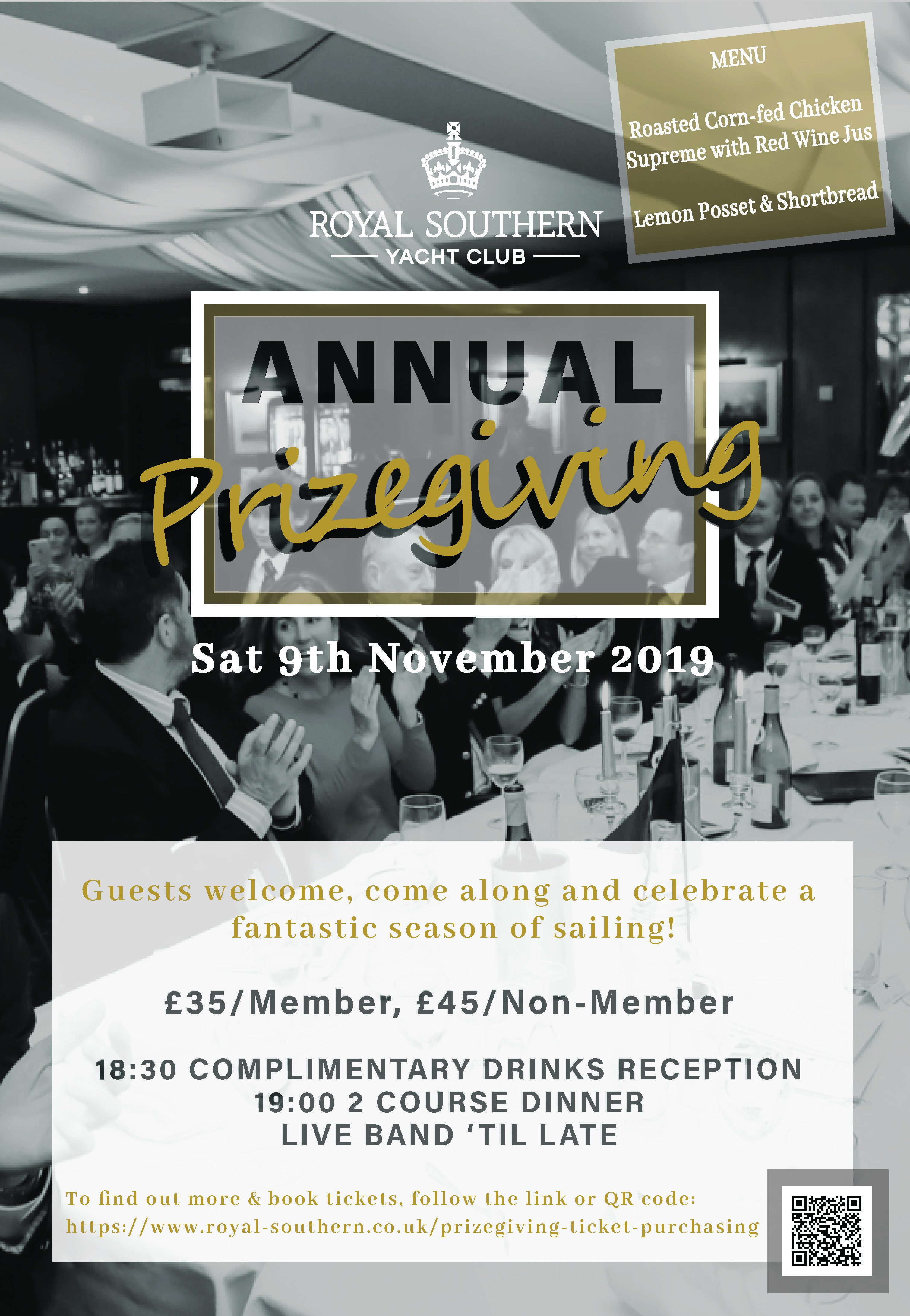 Prizegiving Poster With Menu 4